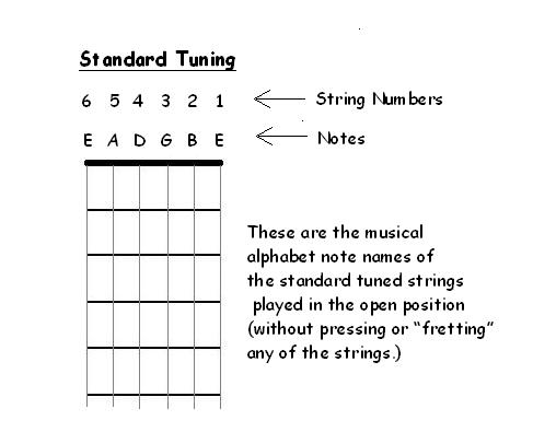 Diagram Of Acoustic Guitar Strings